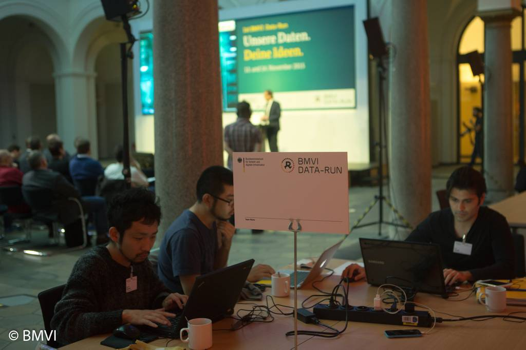 Programmierer beim 1st BMVI Data-Run 2015. (Foto: BMVI; CC BY-ND 2.0)