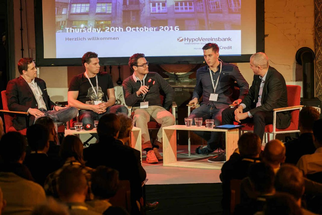 """Investors' Confessions"" von SwanCap, Cavalry Ventures, Earlybird Venture Capital, Point Nine Capital und NKF (Foto: Michael Fahrig)"