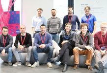 Los geht's: die Teams im Merck Innovation-Center in Darmstadt