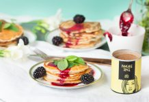 Just Spices Pancake Spice Mini-Pancakes mit Brombeersauce